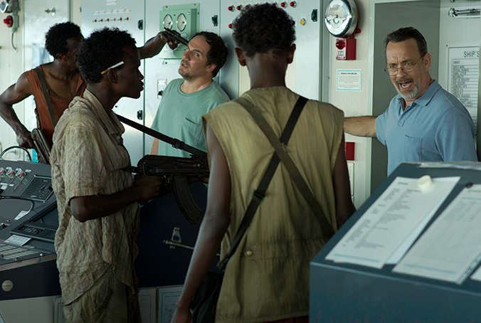 PHOTO CREDIT: Above is a production still from Captain Phillips.