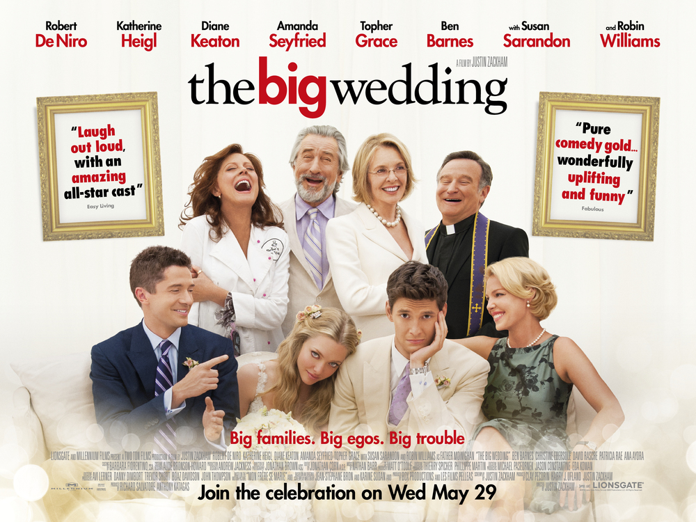 Poster of The Big Wedding, another movie filmed in Connecticut, also starring Diane Keaton - via Google.