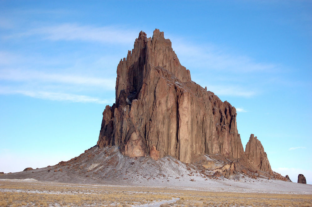 PHOTO CREDIT: Shiprock, New Mexico - one of the film locations of The Lone Ranger. (Photo is from here.)