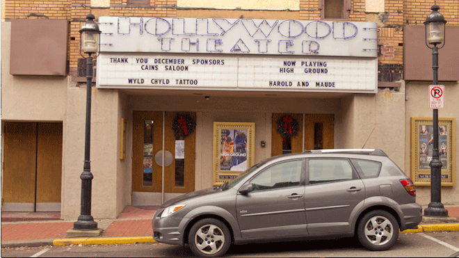 PHOTO CREDIT: Above photo of the Hollywood Theater is by Sarah Le - for Reel-Scout, Inc. - all rights reserved.