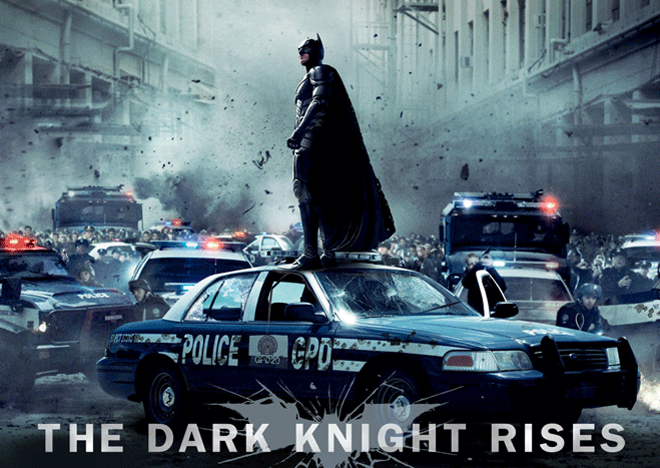 "PHOTO CREDIT:  Above photo of Christian Bale as Batman in ""The Dark Knight Rises"" is from  the movie's official website ."
