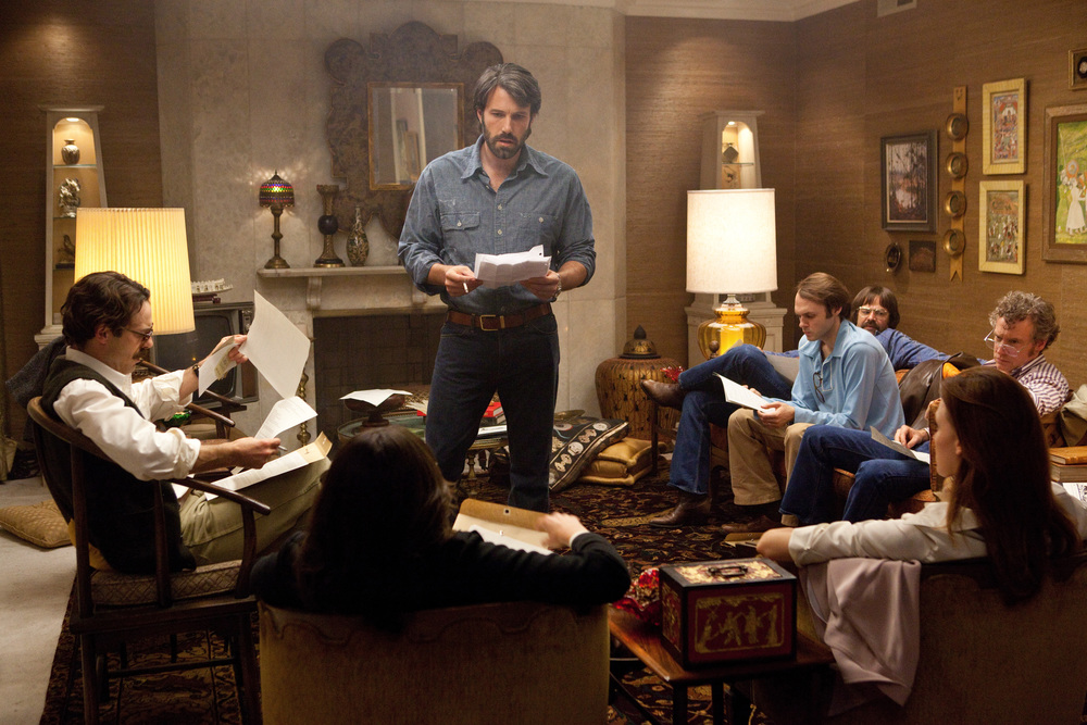 PHOTO CREDIT: The Los Angeles house of Grace Verzosa Ambat was completely transformed to resemble a Canadian ambassador's residence in 1970s Tehran for the movie. A crew of about 100 were at her family's house day and night. The actors slept there for a week. (This is a production still from  Argo .)