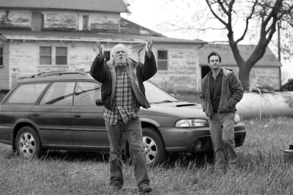 PHOTO CREDIT: Bruce Dern and Will Forte in a movie still of Nebraska - photo source.