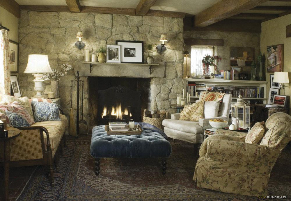 Cottage Living Room Colorful Mismatched