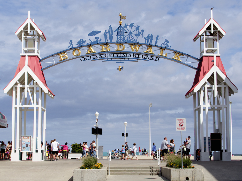 Ocean City Boardwalk via Google.