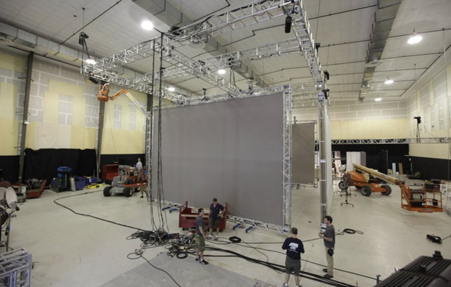 PHOTO CREDIT: Above is a photo of a sound stage at East Hampton Studio (from is from East Hampton Studio's website).