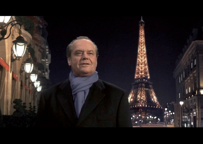 PHOTO CREDIT: Above screenshot is of Harry in front of the Plaza Athenee Paris, with the Eiffel Tower digitally added in the background.