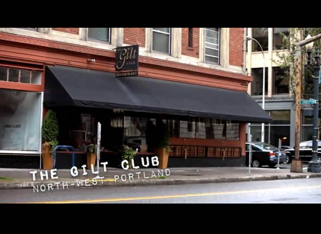 "PHOTO CREDIT:  Above screenshot of Portlandia's ""Farm"" episode was filmed on location at  The Gilt Club  in Portland."