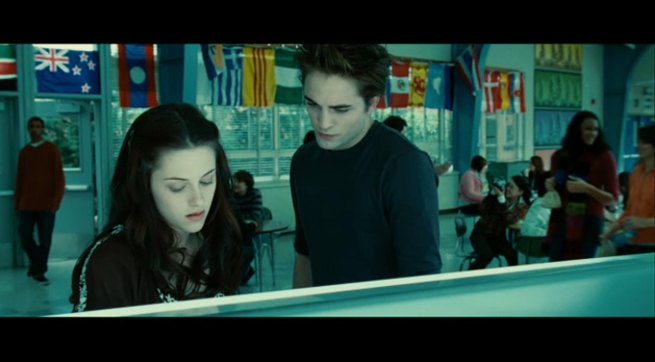 PHOTO CREDIT:  The above is a screenshot of the cafeteria scene from Twilight was filmed on location at Madison High School.
