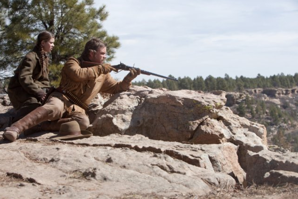 Production still of True Grit - filmed in Austin, Texas - via IMDb.