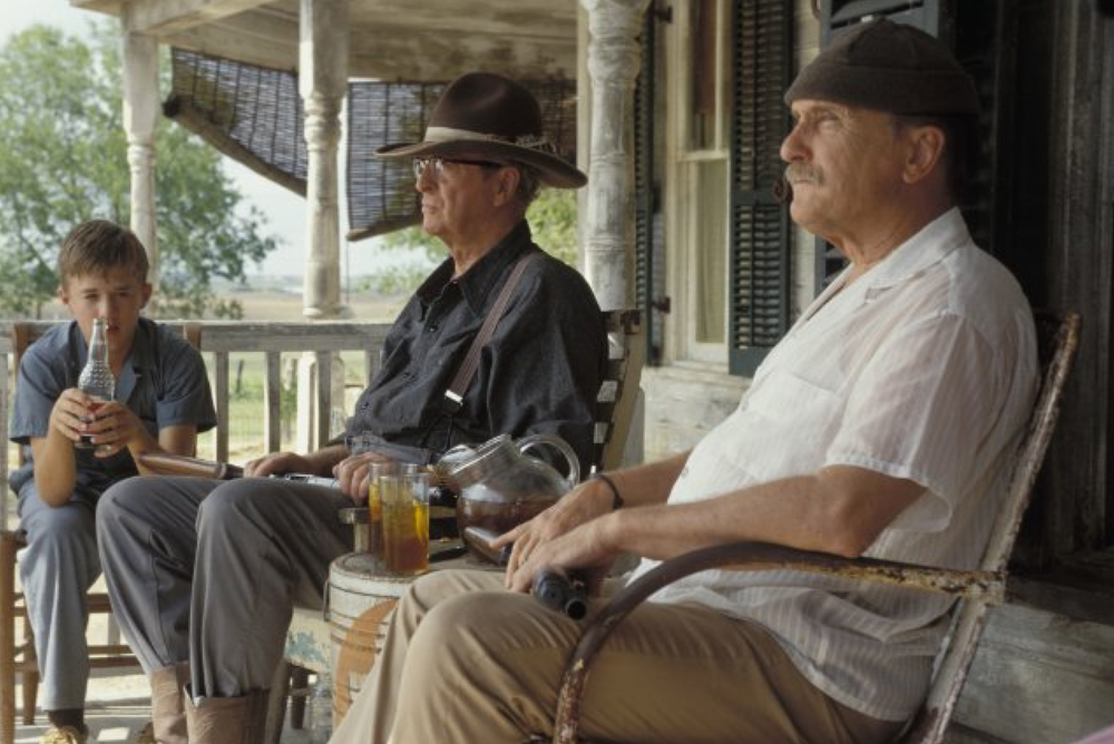 Production still of Secondhand Lions - filmed in Austin, Texas - via IMDb.