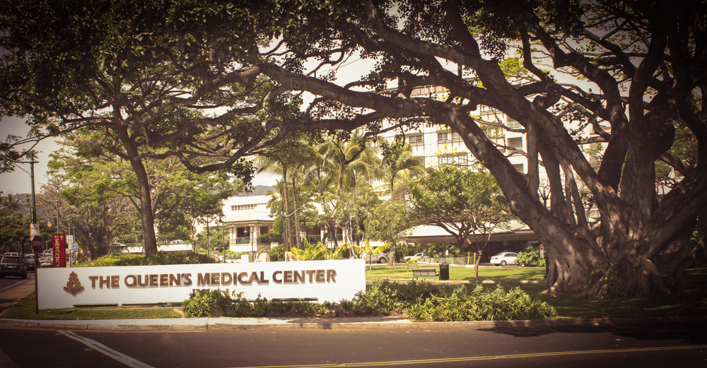 PHOTO CREDIT: Above photo of the Queen's Medical Center via Google.