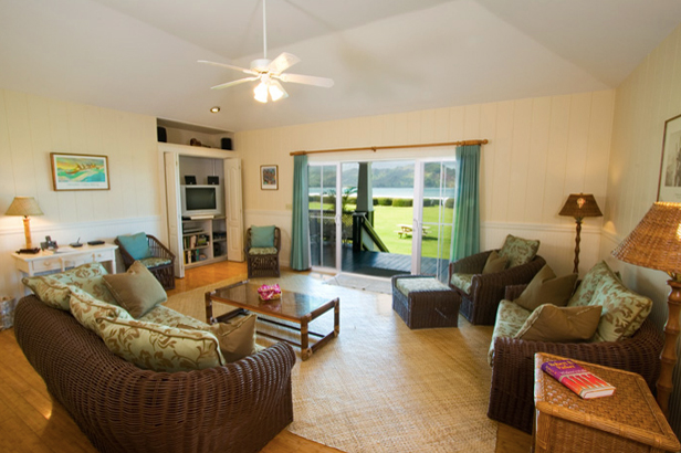 PHOTO CREDITS: For more information and photos of the Kanu Beach Cottage, visit the Hanalei Land Company's website. Above photos are also from the website.