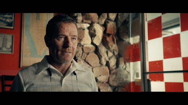 Screenshot of Bryan Cranston as Shannon at Nino's Pizzeria.