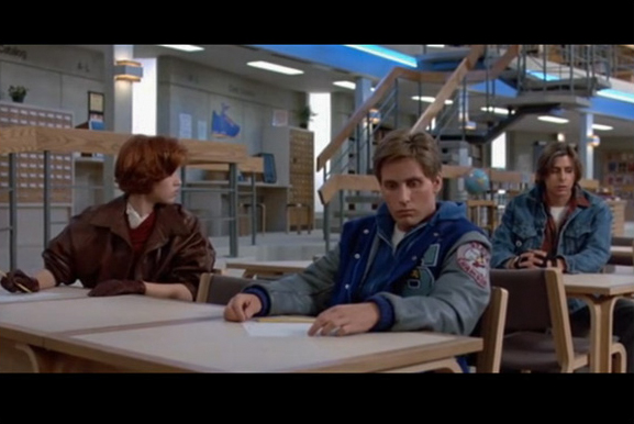 Screenshot from The Breakfast Club.