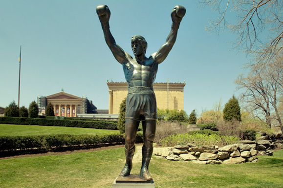 Photo of Rocky's statue is from here.