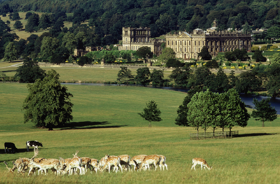 Photo of Chatsworth House via Google.