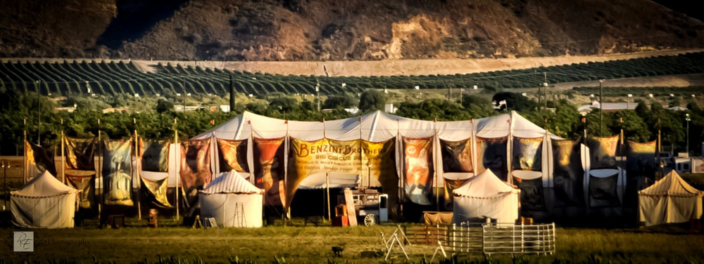 Image of the circus set of Water For Elephants via  Flickr .
