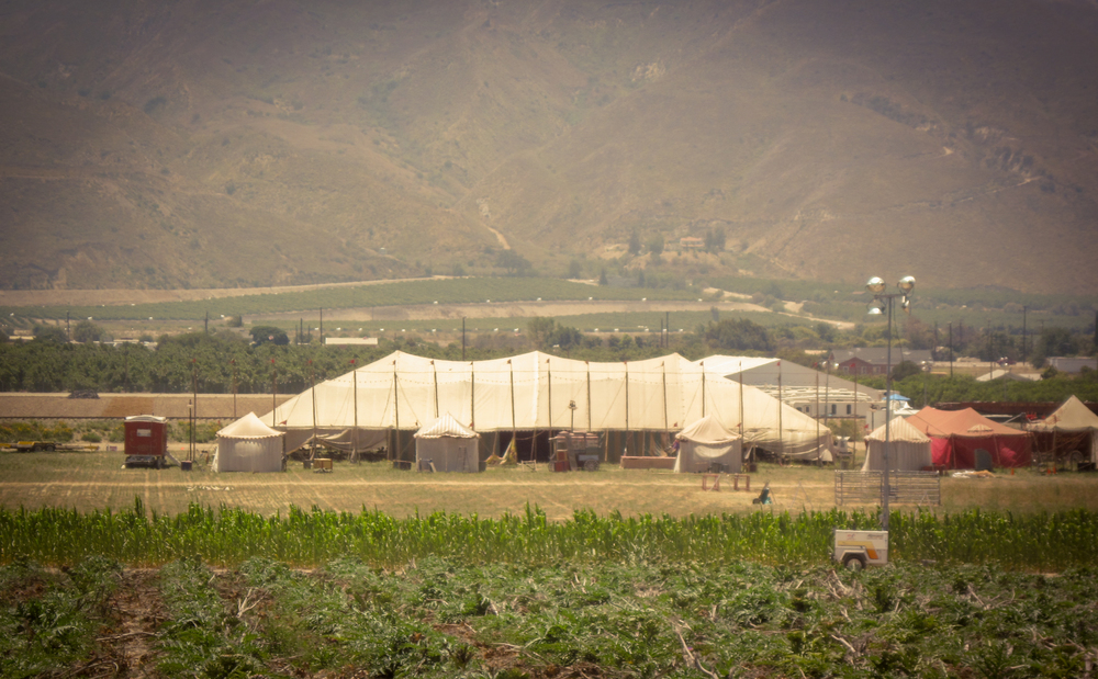 Image of the big-top tent set of  Water For Elephants  in Piru, California - via  Google .