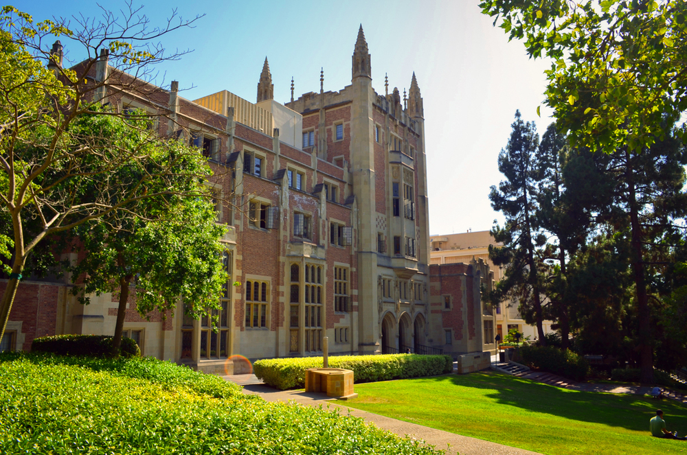 Image of Kerckhoff Hall, UCLA via  Wikipedia .