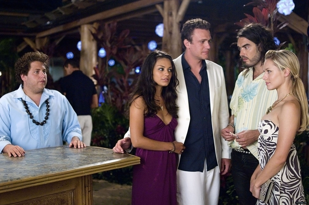 Production still of  Forgetting Sarah Marshall  via  Google .