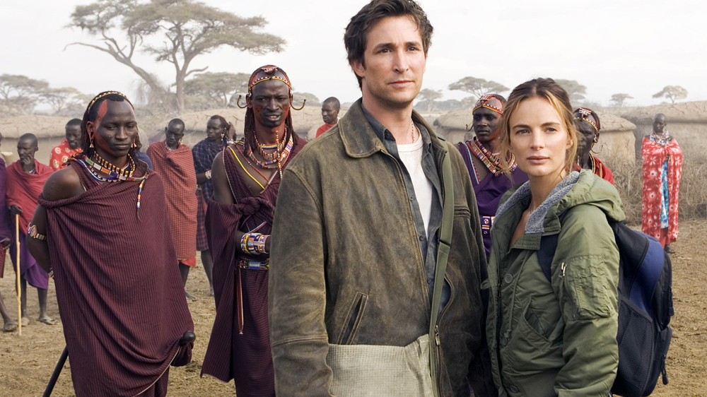 Production still of   The Librarian: Return to King Solomon's Mines   (2006), filmed on location in South Africa and Kenya. Image via  Google .