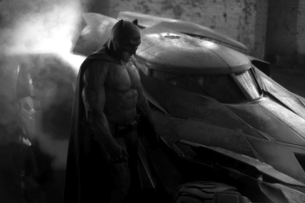Ben Affleck as Batman - image via Zack Snyder's Twitter.