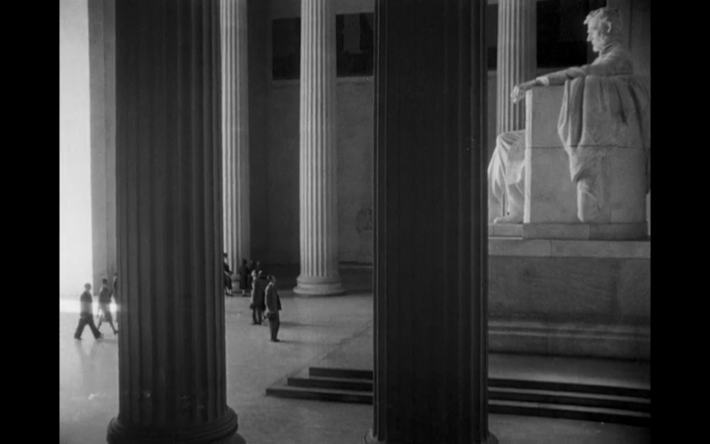 Screenshot from  Mr. Smith Goes to Washington  filmed at The Lincoln Memorial.