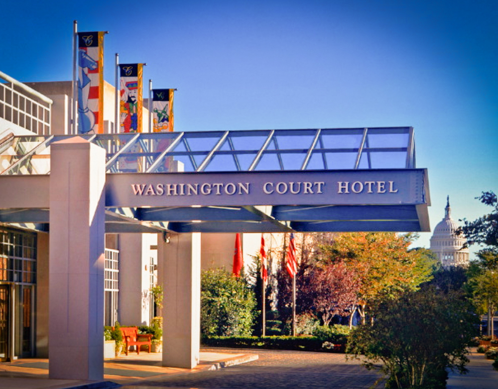 The Washington Court Hotel in Washington, D.C. - image via the  hotel's website .