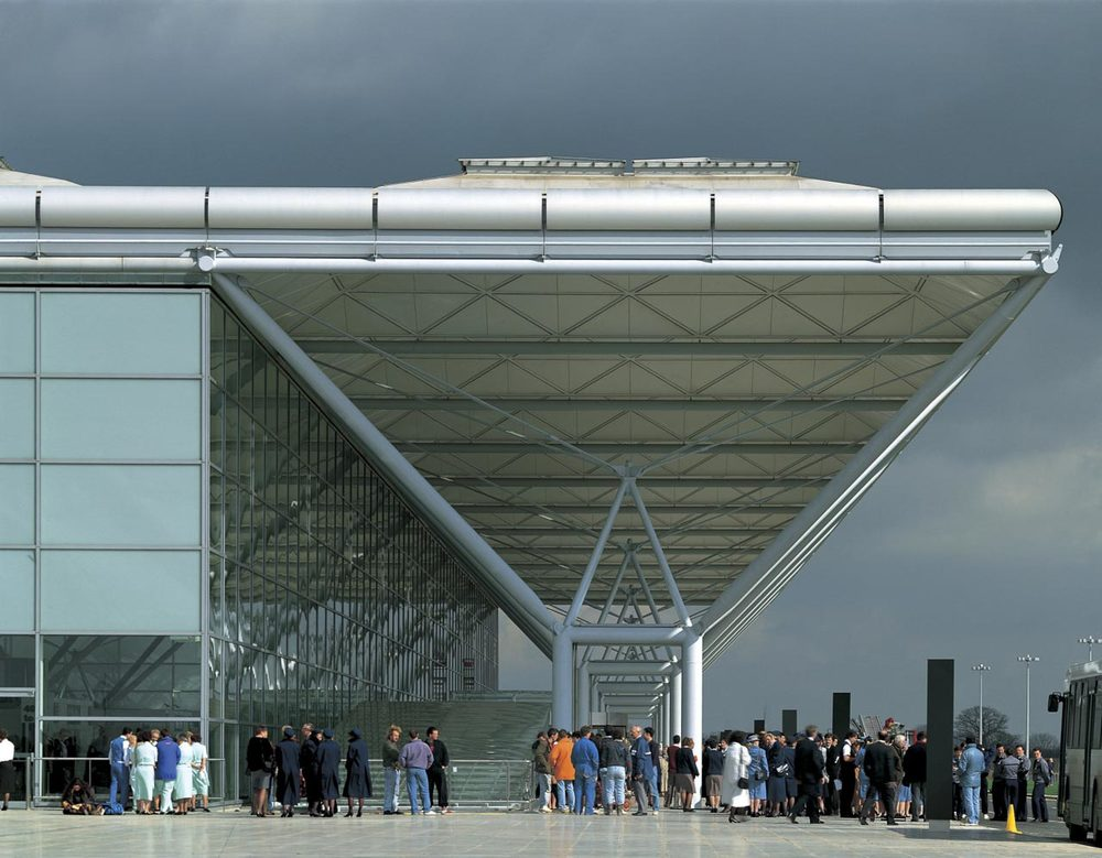 Stansted Airport, one of the filming locations of  Philomena  - image via  Google .