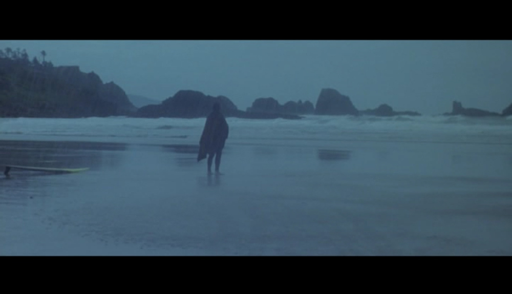 Screenshot of the last scene in  Point Break , filmed at Indian Beach which doubled for Australia's famous Bells Beach, a surfers' paradise.