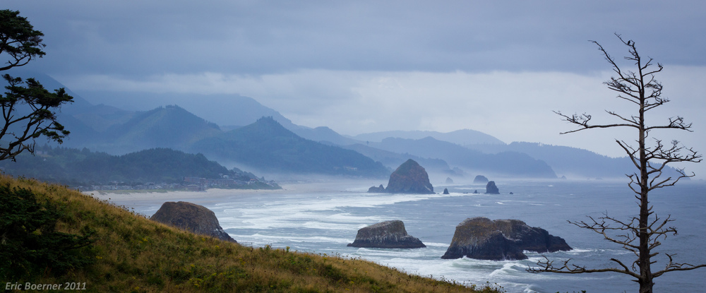 The bluff of Indian beach, where  The Goonies  was filmed (see above photo) - image taken in 2011 by photographer  Eric Boerner .