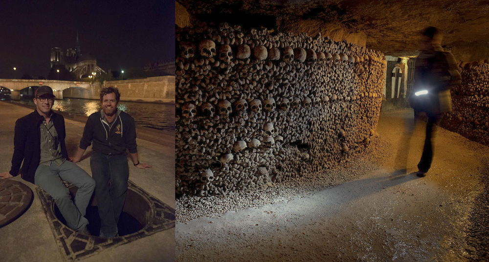 As above so below filmed in the eerie catacombs of paris for Inside french film