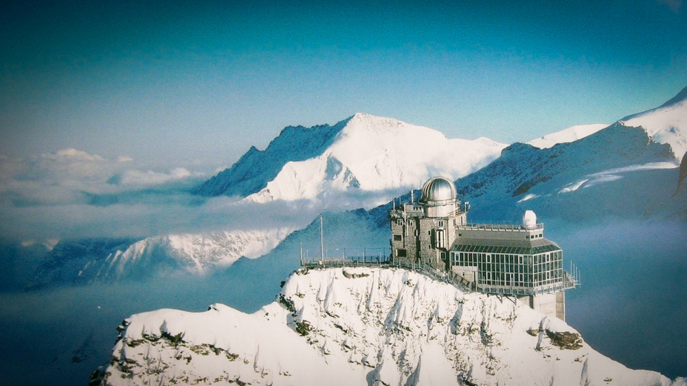 The Sphinx Observatory in Switzerland was the inspiration for The Grand Budapest Hotel. Image via  Google .