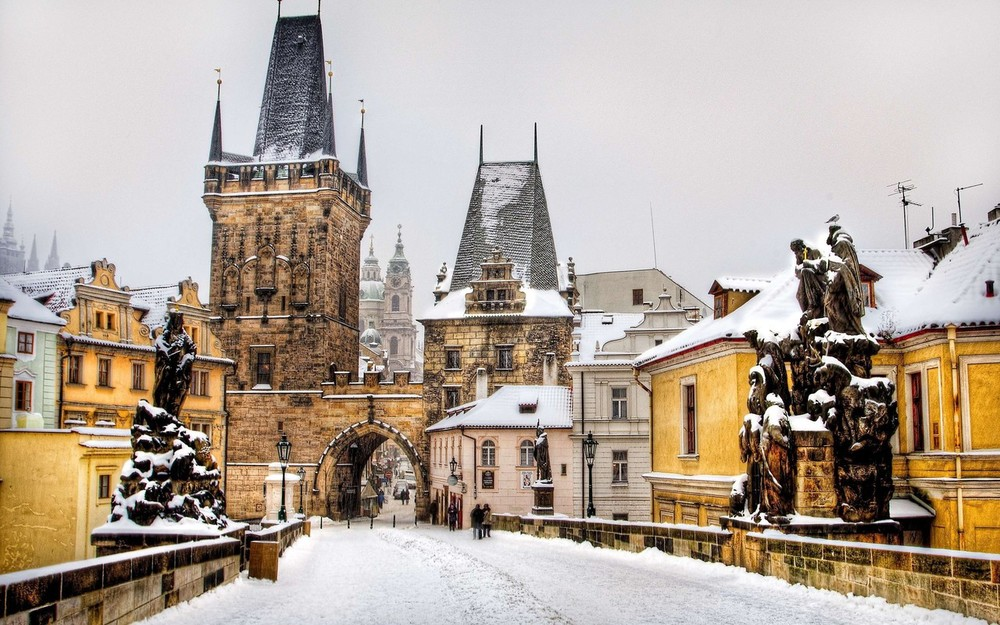 Prague, the city that inspired Wes Anderson's visions for The Republic of Zubrowka. Image via  Google .