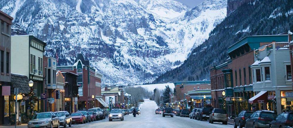 A typical winter day in Telluride, Colorado - image via Google.