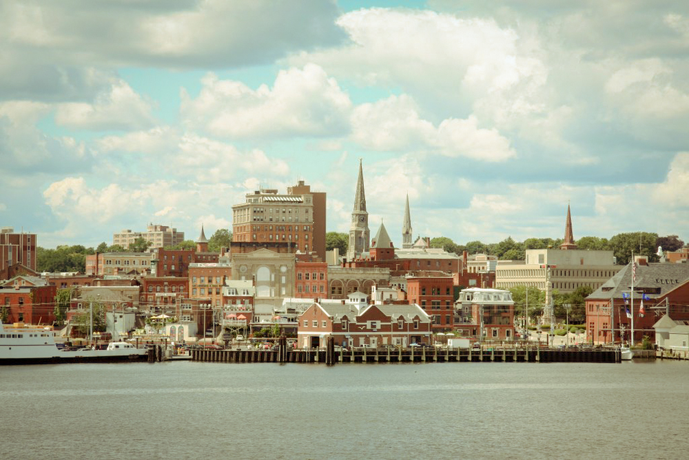 New London, Connecticut , the setting and filming location of The Missing Girl. Image via Google.