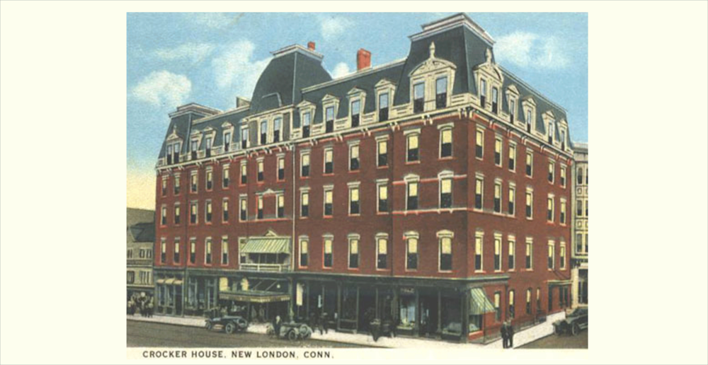 A vintage print of The Crocker House in New London, Connecticut - one of the film locations of The Missing Girl. Image via Google.