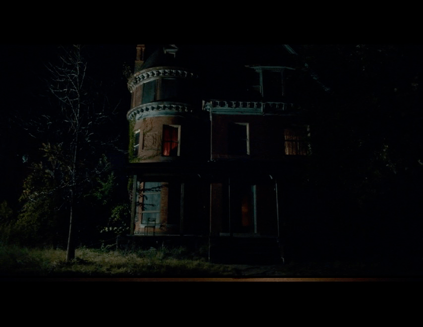 Screenshot from the movie of Adam's house.