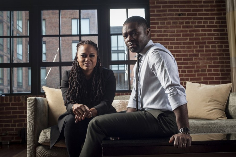 Selma's director Ava DuVernay and actor  David Oyelowo (as Dr. Martin Luther King, Jr.). Image via   The Washington Post  .