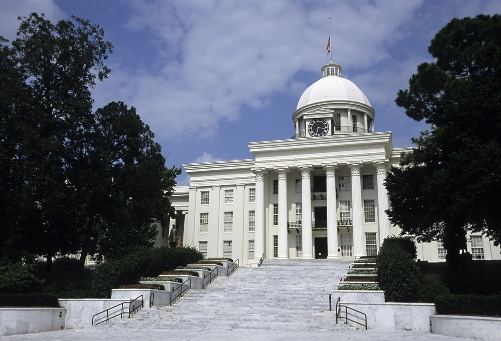 Alabama State Capitol building, one of the film locations of  Selma  - image via  Wikipedia .