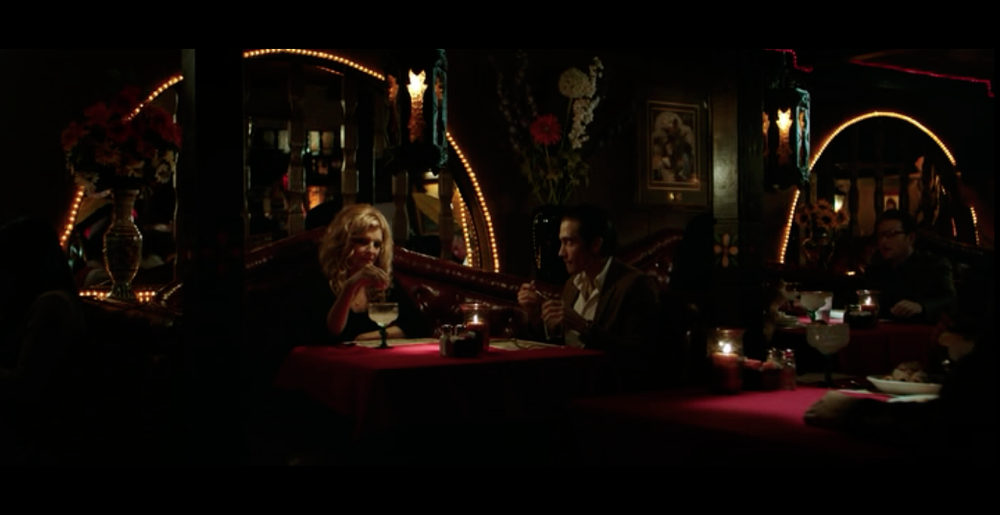 Screenshot from Nightcrawler filmed at El Compadre Restaurant (in the movie it stands for the fictitious Cabanita Mexican Restaurant.