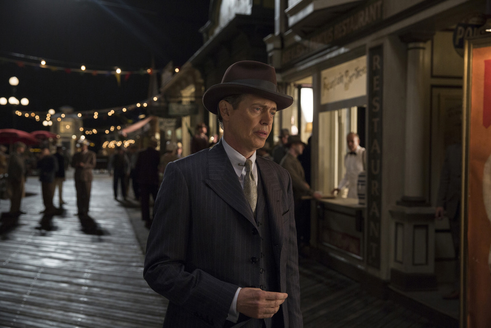 "Steve Buscemi as Enoch ""Nucky"" Thompson in  Boardwalk Empire , filmed in and around New York City - image via  Google ."