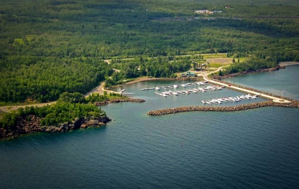 Silver Bay Marina in Minnesota, image via  Google .