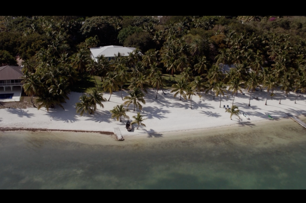 Screenshot from Bloodline, featuring an aerial view of The Rayburn House filmed on location at The Moorings Village & Spa in Islamorada, Florida.