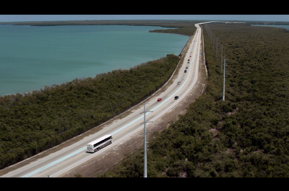 Screenshot from the opening sequence of Bloodline's pilot episode, filmed on location in the Florida Keys.