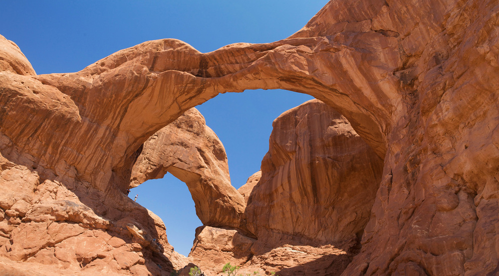 The Moab's area Double Arch is a famous, iconic film location - image via  Google .