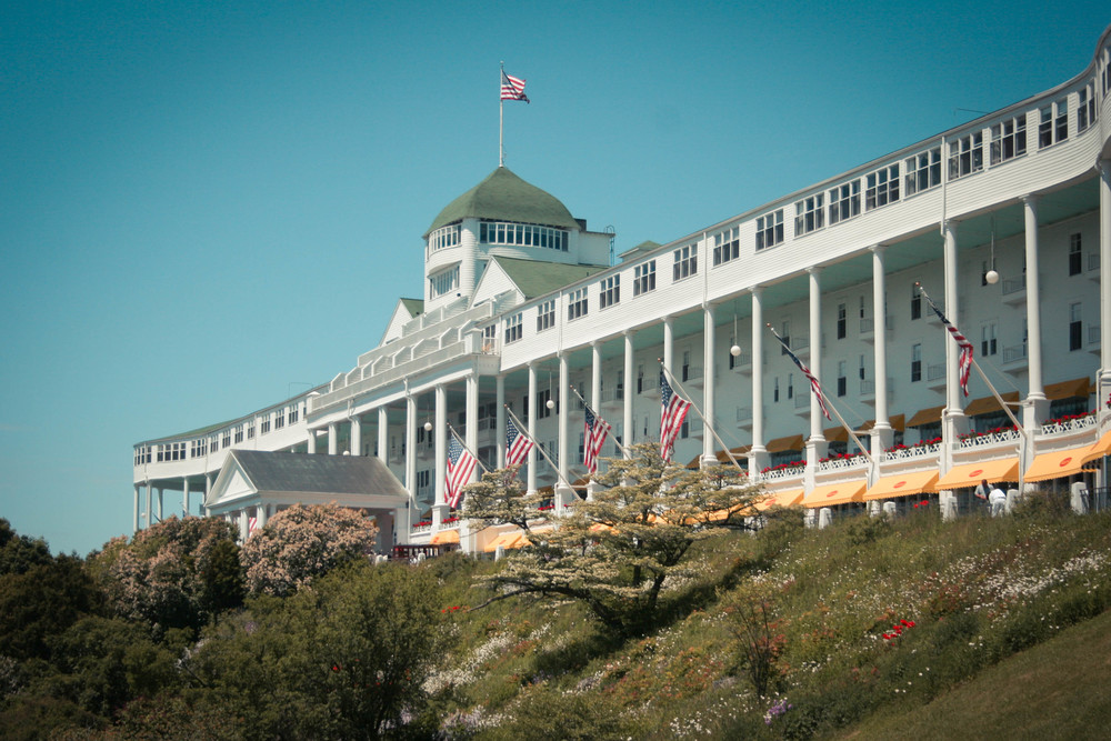 The Grand Hotel on Mackinac Island, Michigan where Somewhere In Time was filmed in 1979 - photo by Sarah Le for LocationsHub.