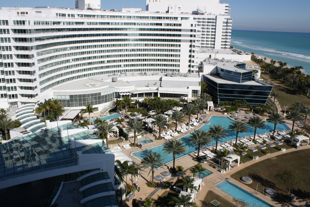 Photo of the Fontainebleau Miami Beach Hotel via  Google .