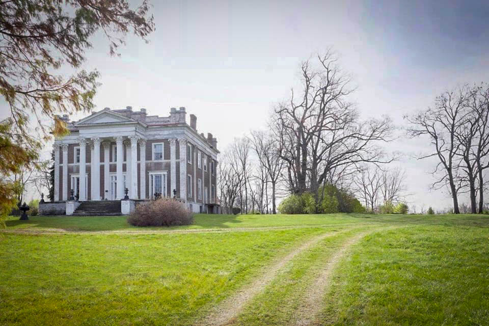 An available film location in Kentucky: Ward Hall in Georgetown, Kentucky - a Greek Revival antebellum plantation mansion located in Georgetown, Kentucky - image via LocationsHub.